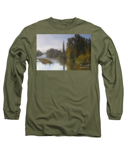 Trees A View From Usk Bridge Long Sleeve T-Shirt