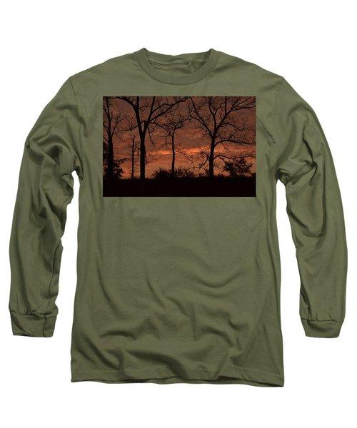 Trees At Sunrise Long Sleeve T-Shirt