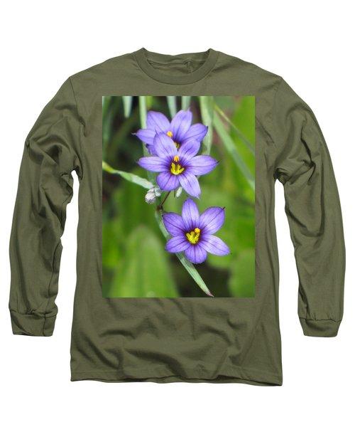 Triple Purple Long Sleeve T-Shirt