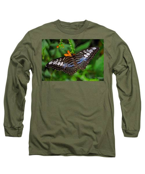 Long Sleeve T-Shirt featuring the photograph Tropical Butterfly by Marie Hicks