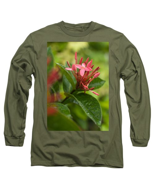 Tropical Flowers In Singapore Long Sleeve T-Shirt