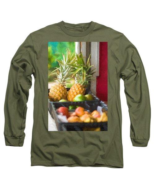 Tropical Fruitstand Long Sleeve T-Shirt