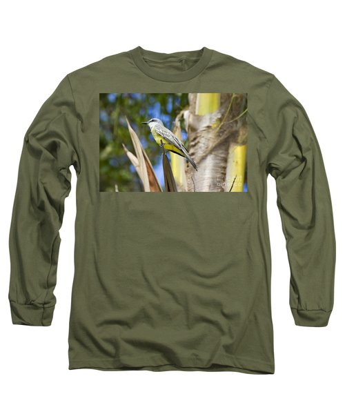 Long Sleeve T-Shirt featuring the photograph Tropical Kingbird by Teresa Zieba
