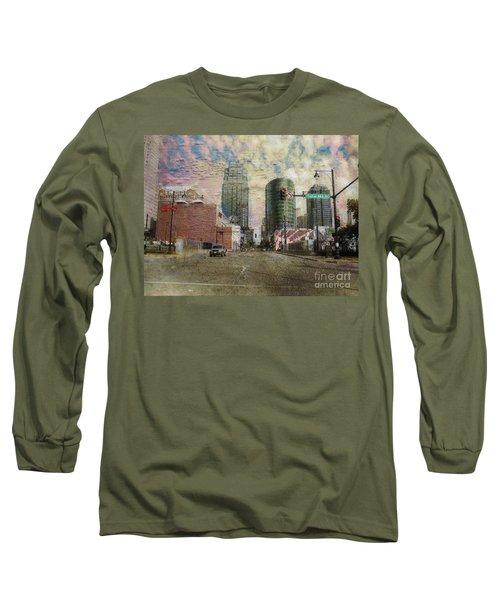 Long Sleeve T-Shirt featuring the photograph Truman Road Kansas City Missouri by Liane Wright