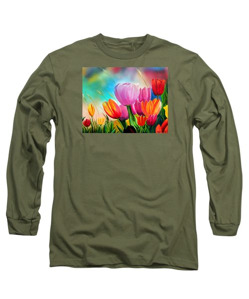 Tulipa Festivity Long Sleeve T-Shirt by Angel Ortiz