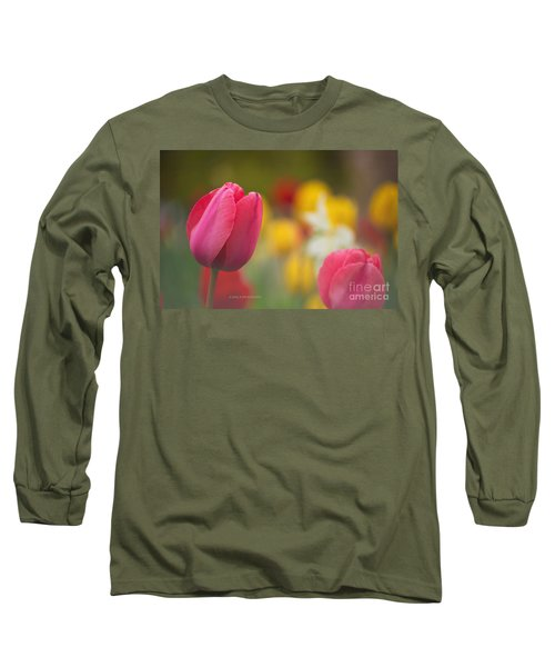 Long Sleeve T-Shirt featuring the photograph Tulips Blooming by Rima Biswas