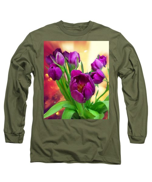 Tulips Long Sleeve T-Shirt by Carlos Avila