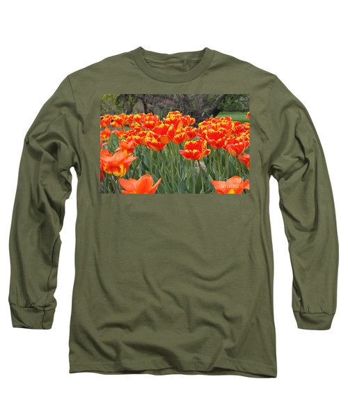 Tulips From Brooklyn Long Sleeve T-Shirt