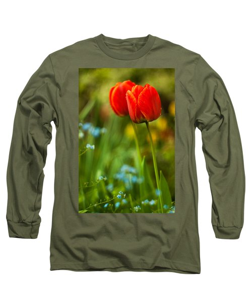 Tulips In Garden Long Sleeve T-Shirt