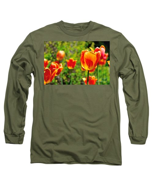 Long Sleeve T-Shirt featuring the photograph Tulips by Joe  Ng