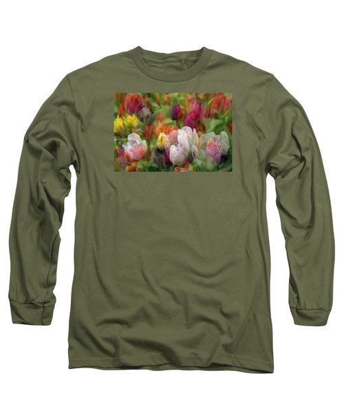 Tulips Long Sleeve T-Shirt by Penny Lisowski