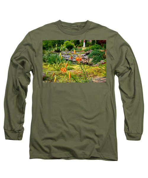Long Sleeve T-Shirt featuring the photograph Turk's Cap Lily by Kathryn Meyer