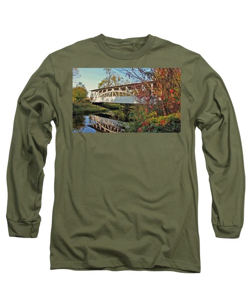 Long Sleeve T-Shirt featuring the photograph Turner's Covered Bridge by Suzanne Stout