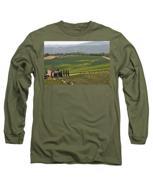 Tuscan Hillside Long Sleeve T-Shirt