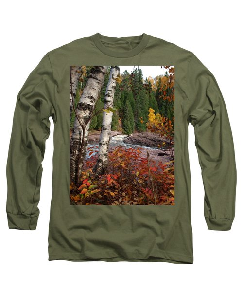 Twin Aspens Long Sleeve T-Shirt by James Peterson