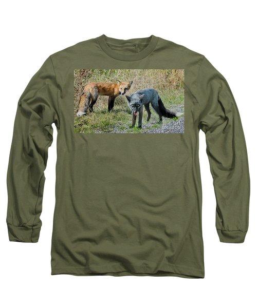 Two Fox Seattle Long Sleeve T-Shirt by Jennie Breeze