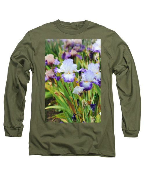 Long Sleeve T-Shirt featuring the photograph Two Iris by Patricia Babbitt