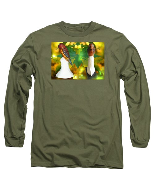 Two Lovely Birds Long Sleeve T-Shirt