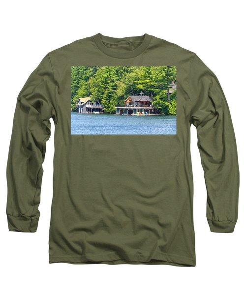 Two Luxury Boathouses Long Sleeve T-Shirt