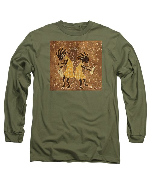 Two Sax Players Long Sleeve T-Shirt by Katherine Young-Beck