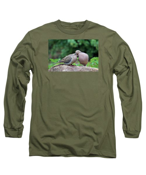 Two Turtle Doves Long Sleeve T-Shirt by Cynthia Guinn