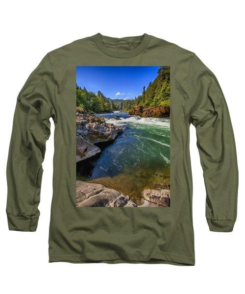 Long Sleeve T-Shirt featuring the photograph Umpqua River by David Millenheft