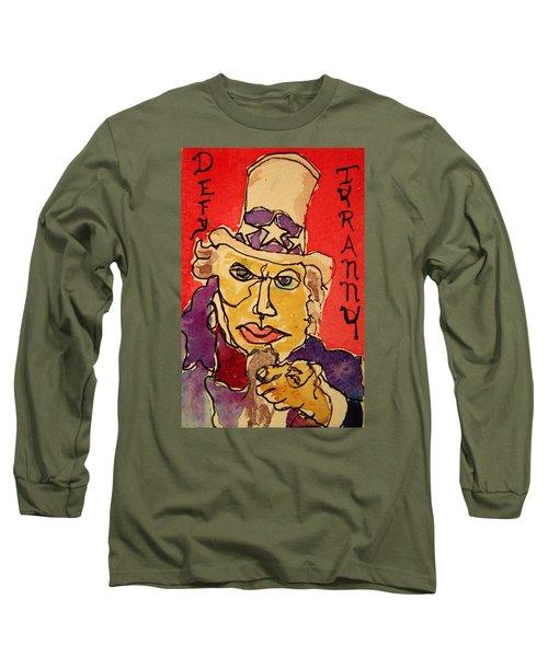 Uncle Sam Defy Tyranny Long Sleeve T-Shirt