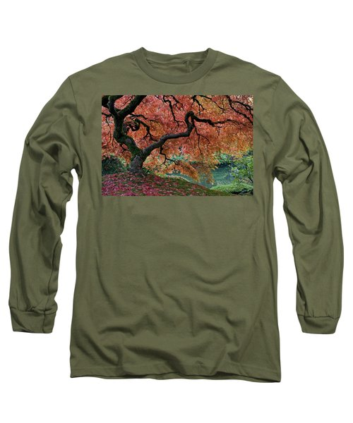Under Fall's Cover Long Sleeve T-Shirt by Wes and Dotty Weber