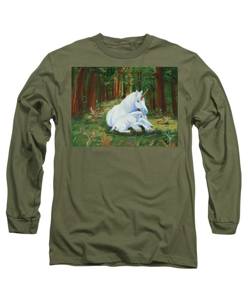 Unicorns Lap Long Sleeve T-Shirt