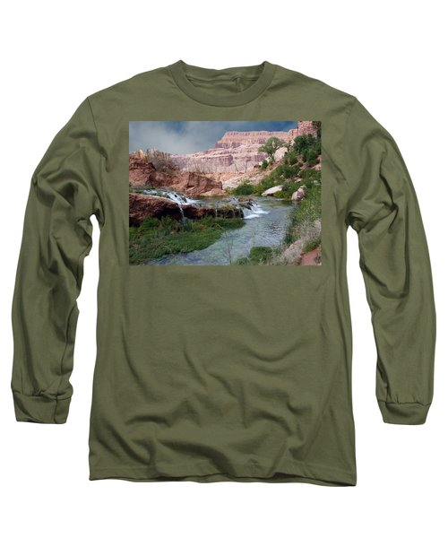 Unspoiled Waterfall Long Sleeve T-Shirt