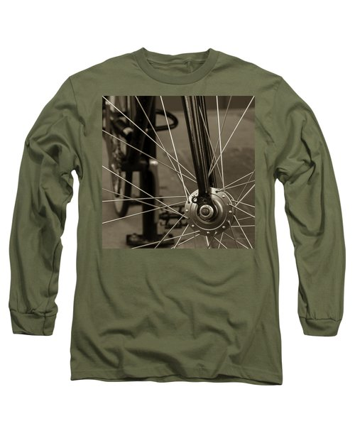 Urban Spokes In Sepia Long Sleeve T-Shirt by Steven Milner