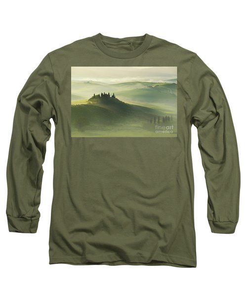 Long Sleeve T-Shirt featuring the photograph Val D'orcia by Jaroslaw Blaminsky