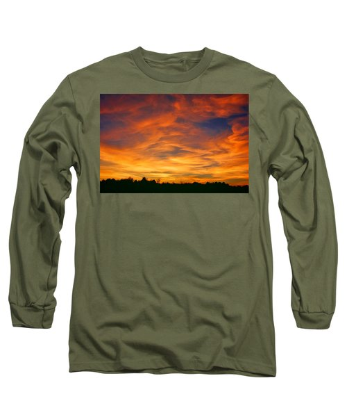 Long Sleeve T-Shirt featuring the photograph Valentine Sunset by Tammy Espino
