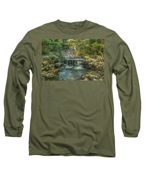 Long Sleeve T-Shirt featuring the photograph Vaughan Woods Stream by Jane Luxton