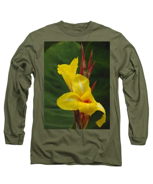 Velvety Yellow Iris  Long Sleeve T-Shirt