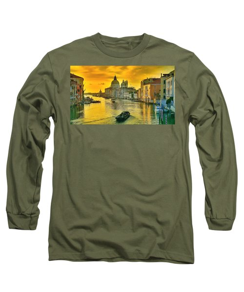 Golden Venice 3 Hdr - Italy Long Sleeve T-Shirt by Maciek Froncisz