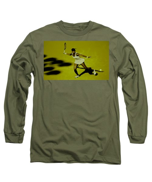 Venus Williams In Action Long Sleeve T-Shirt by Brian Reaves