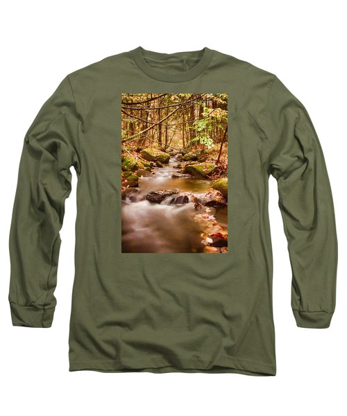Long Sleeve T-Shirt featuring the photograph Vermont Stream by Jeff Folger