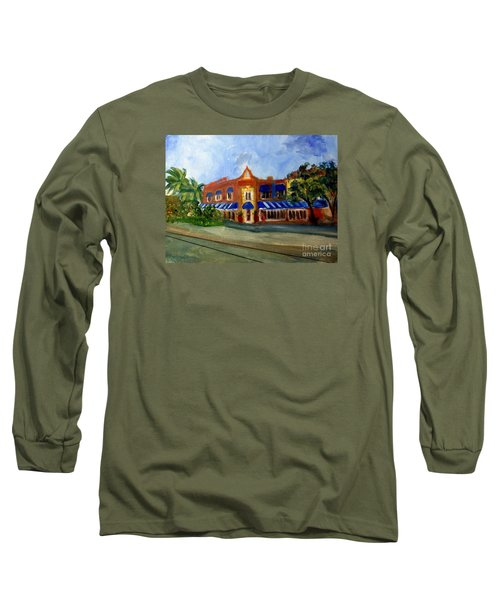 Vic And Angelos In Downtown Delray Beach Long Sleeve T-Shirt