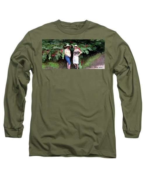 Long Sleeve T-Shirt featuring the painting Victoria And Friend by Bruce Nutting
