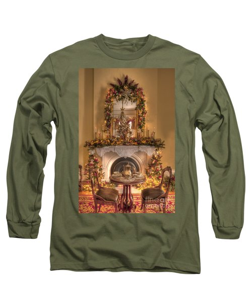 Victorian Christmas By The Fire Long Sleeve T-Shirt