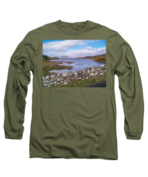 Long Sleeve T-Shirt featuring the photograph View From Quiet Man Bridge Oughterard Ireland by Charles Kraus
