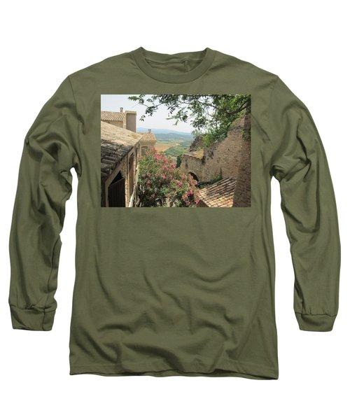 Long Sleeve T-Shirt featuring the photograph Village Vista by Pema Hou