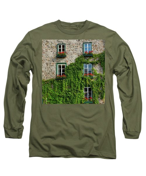 Vine Covered Stone House And Windows Long Sleeve T-Shirt