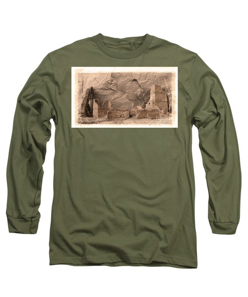 Vintage Canyon De Chelly Long Sleeve T-Shirt by Jerry Fornarotto