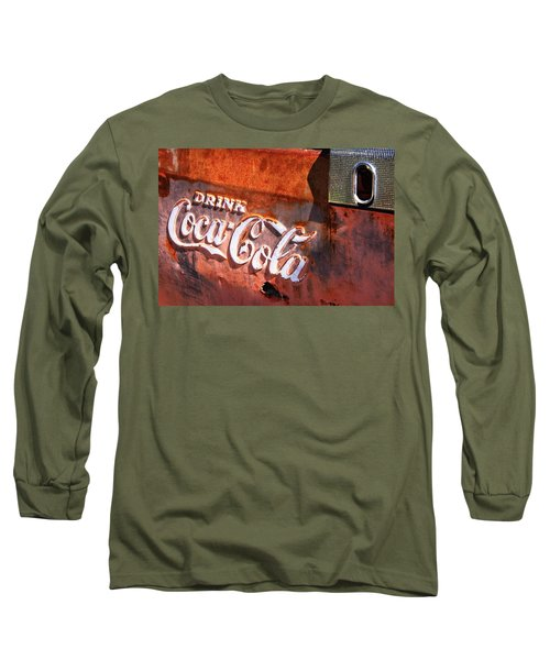 Long Sleeve T-Shirt featuring the photograph Vintage Coca Cola by Steven Bateson