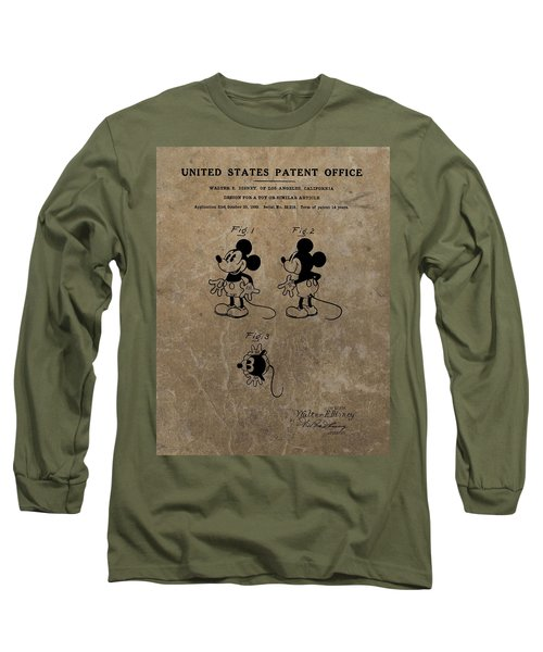 Vintage Mickey Mouse Patent Long Sleeve T-Shirt