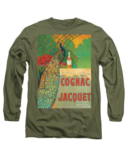 Vintage Poster Advertising Cognac Long Sleeve T-Shirt