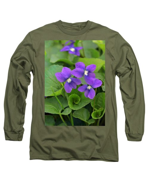 Violet Trio Long Sleeve T-Shirt