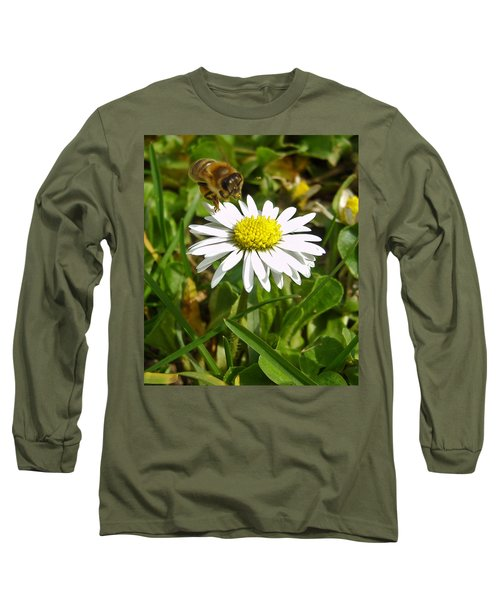 Long Sleeve T-Shirt featuring the photograph Visiting Miss Daisy by Nina Ficur Feenan